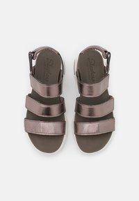 Skechers Sport - D'LITE ULTRA - Platform sandals - pewter metallic - 5