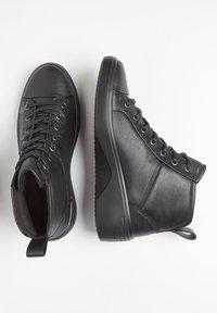 ECCO - SOFT  - Lace-up ankle boots - black/black - 1
