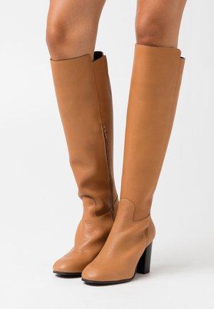 YASLARNA KNEE HIGH BOOTS - Boots - cognac