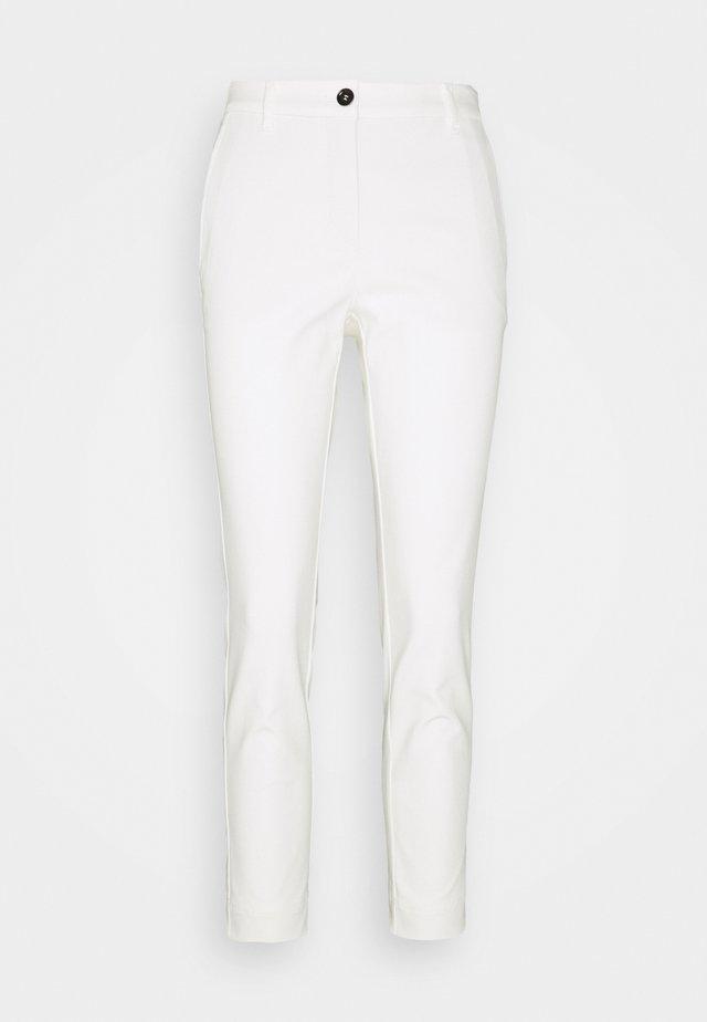 Kangashousut - white