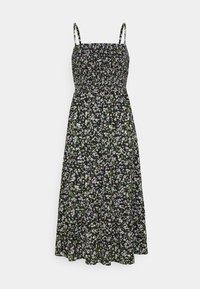 SMOCK FLORAL DRESS - Day dress - black/green