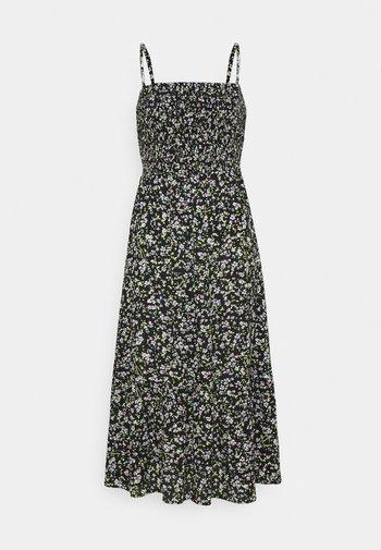 SMOCK FLORAL DRESS