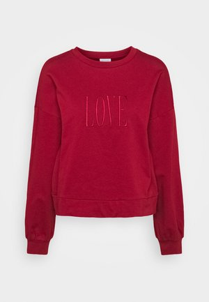 VIADDY EMBROIDERY - Sweater - red dahlia