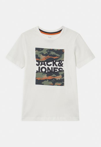 JORCAMERON CREW NECK  - T-shirt con stampa - cloud dancer