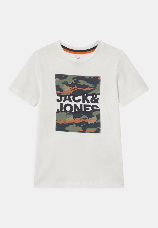 JORCAMERON CREW NECK  - T-shirt med print - cloud dancer