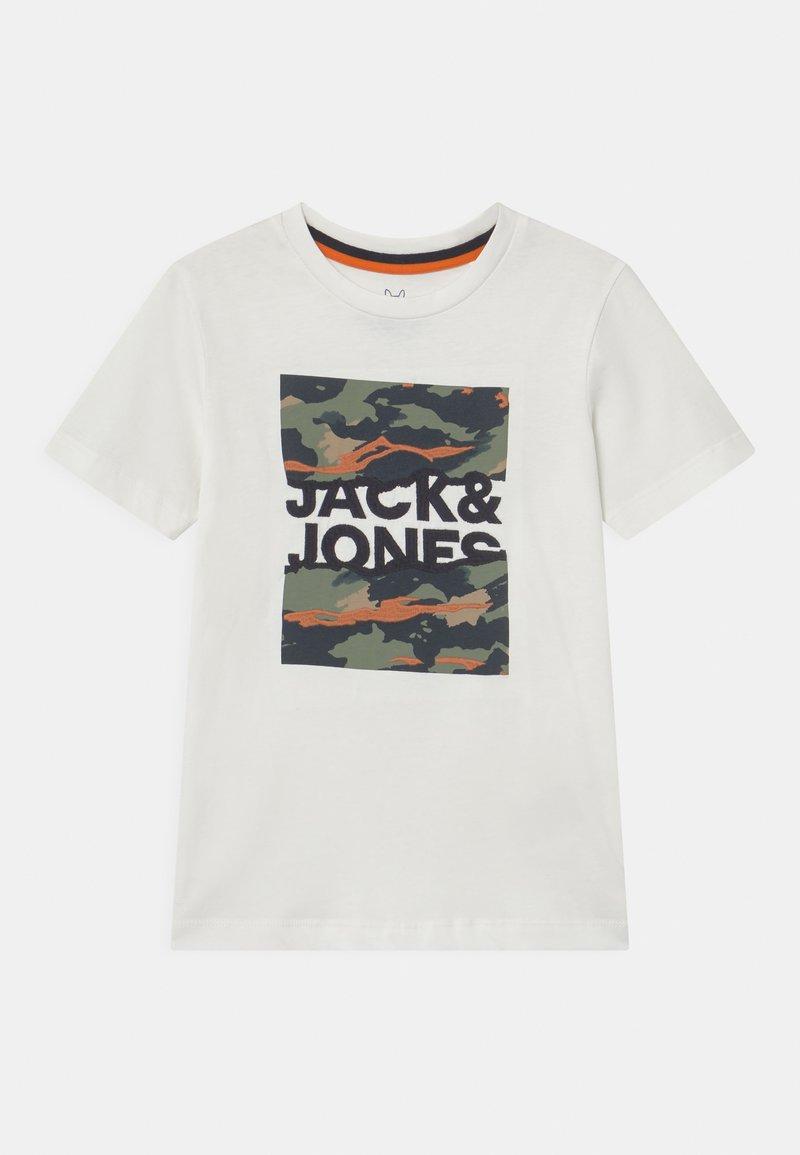 Jack & Jones Junior - JORCAMERON CREW NECK  - T-shirt con stampa - cloud dancer