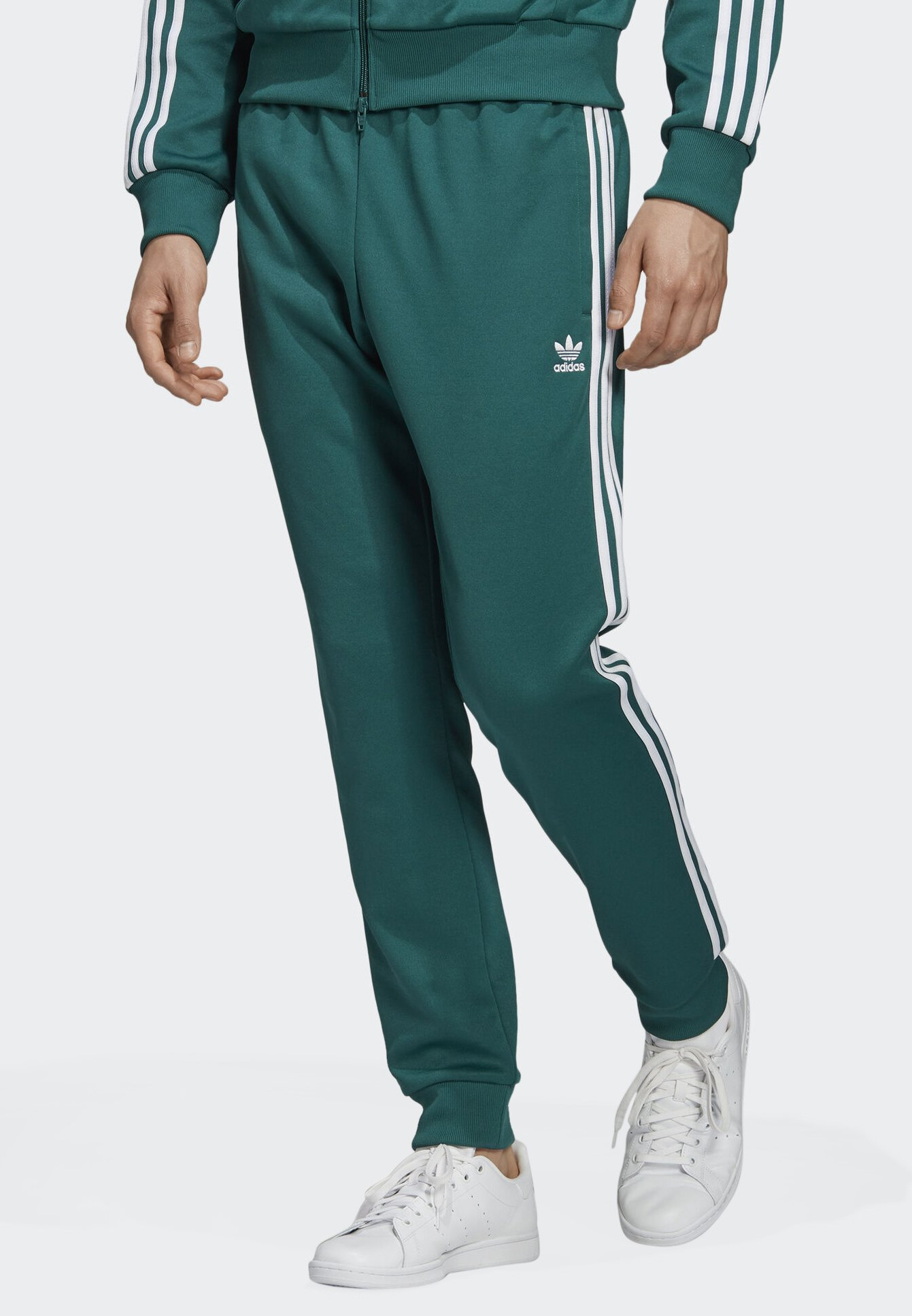 SST TRACKSUIT BOTTOMS - Trainingsbroek - green