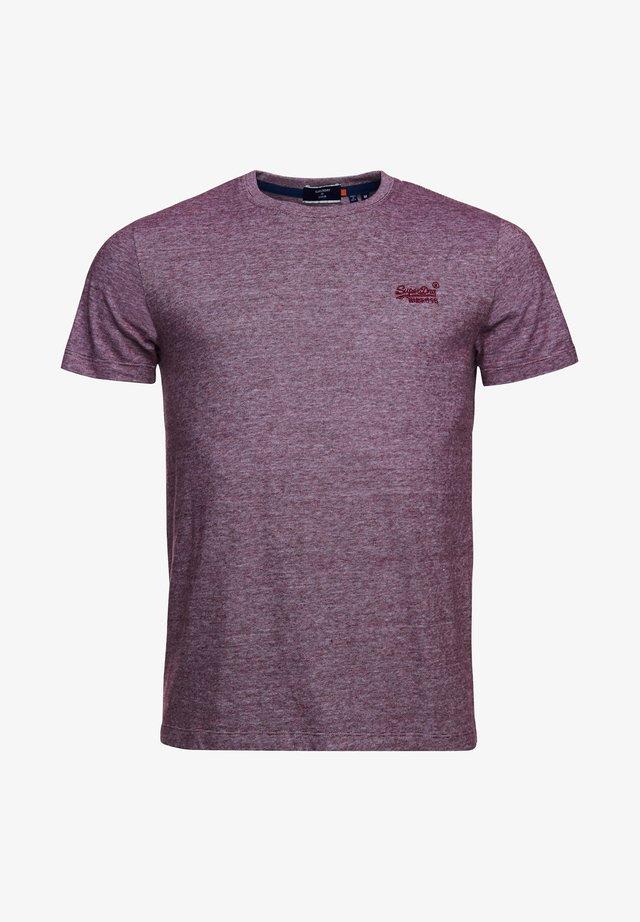 VINTAGE EMBROIDERY  - T-Shirt print - rich deep burg feeder