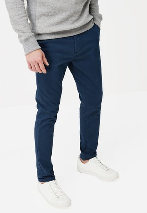 STRETCH CHINOS - Chinos - blue