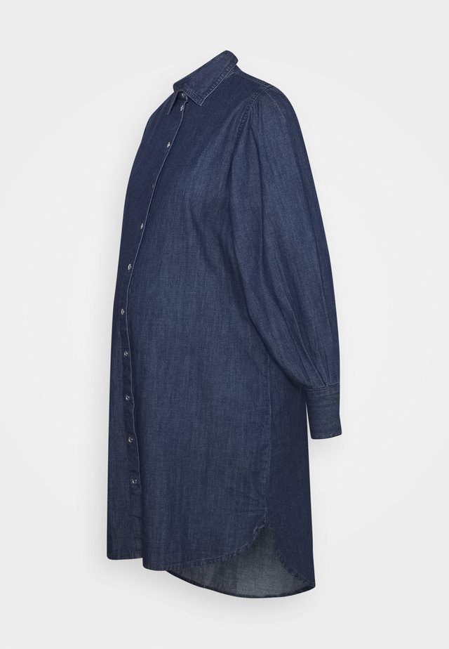 PCMSALIA PUFF SLEEVED DRESS - Vestito estivo - dark blue denim
