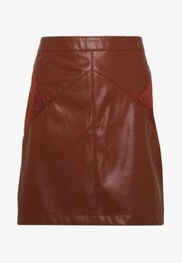 NAF NAF - SUEDA - A-snit nederdel/ A-formede nederdele - caramel - 3