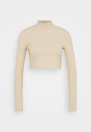 OPEN BACK KNOT DETAIL - Long sleeved top - beige