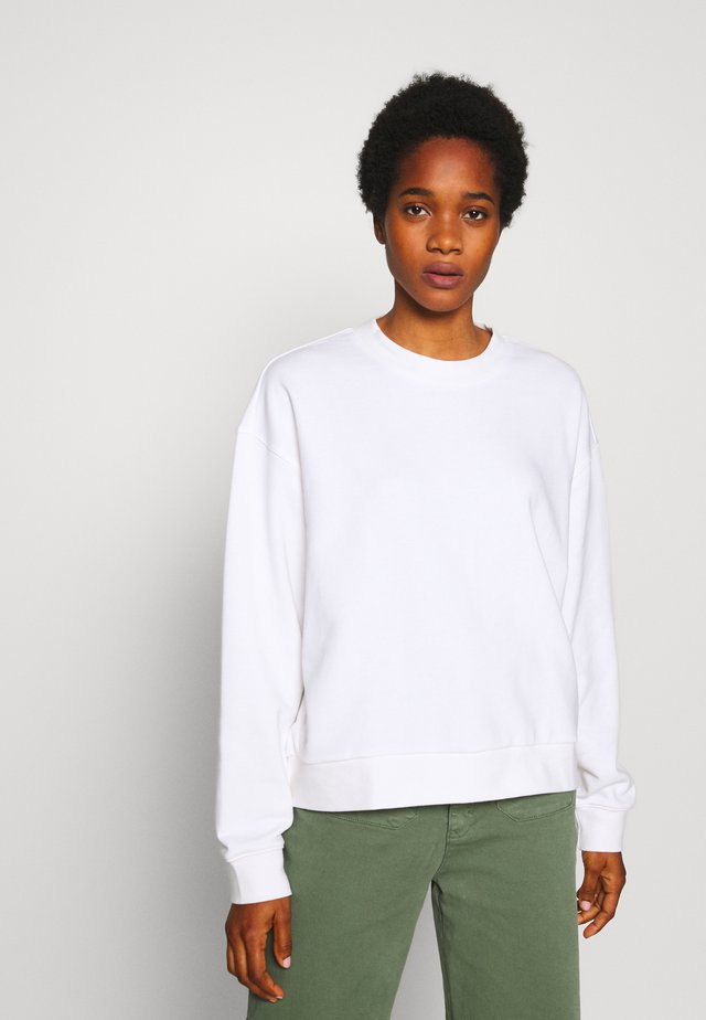 HUGE CROPPED SWEATSHIRT - Sweatshirts - white