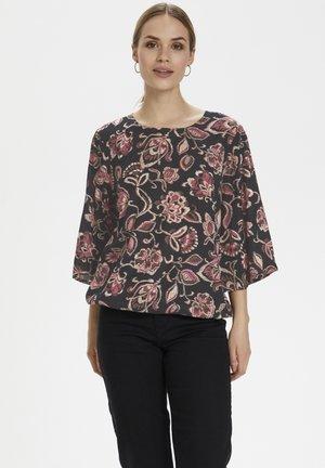 KAQUINNA  - Blouse - black / pink flower print