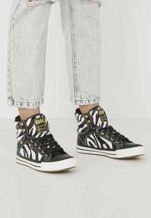 ATOLL - High-top trainers - zebra/black