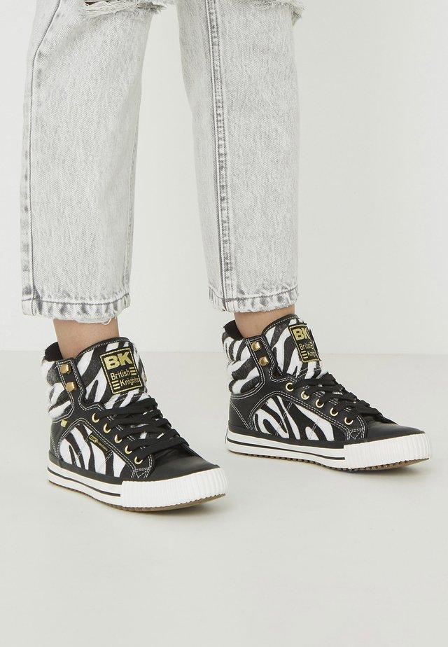 ATOLL - Sneakers high - zebra/black