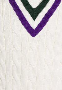 Polo Ralph Lauren - TENNIS VEST - Pullover - cricket cream - 5