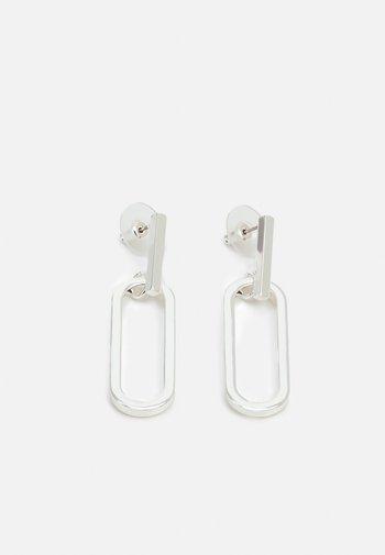 ANCHOR BIG PENDANT EAR PLAIN - Earrings - silver-coloured