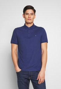 Calvin Klein Tailored - SOFT INTERLOCK SLIM - Poloshirt - blue - 0