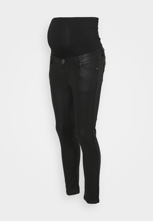COATED  - Jeans Skinny - black