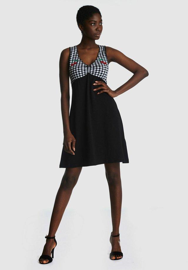 VICHY - Day dress - schwarz allover