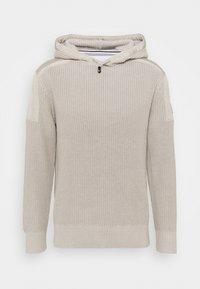Calvin Klein Jeans - MIXED MEDIA HOODED - Hoodie - string - 0