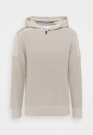 MIXED MEDIA HOODED - Hoodie - string
