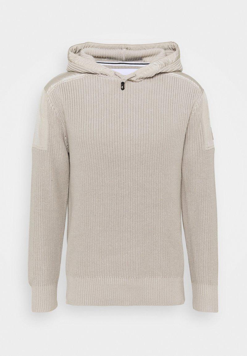 Calvin Klein Jeans - MIXED MEDIA HOODED - Hoodie - string