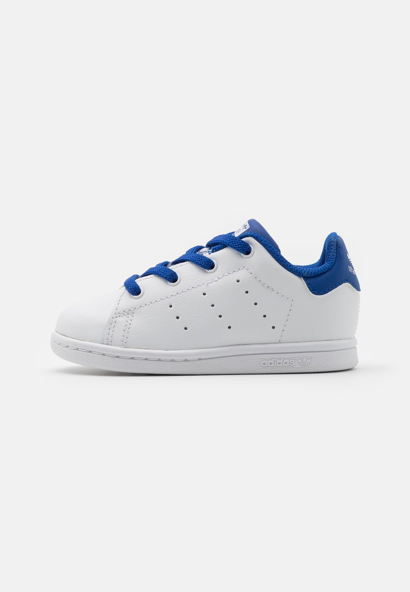 adidas Originals - STAN SMITH UNISEX - Trainers - footwear white/royalblue