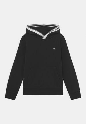 INTARSIA HOODIE - Sweatshirt - black