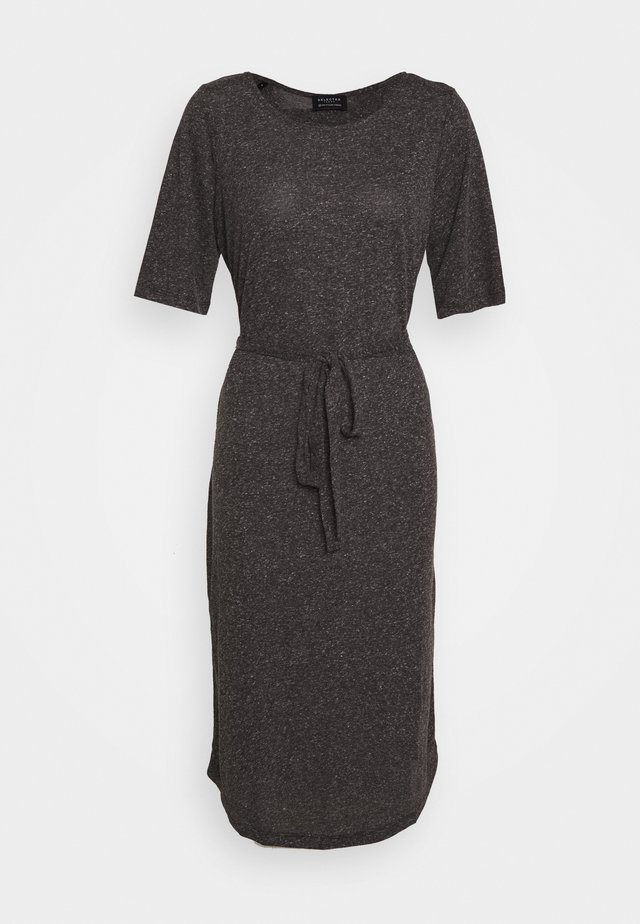 SLFIVY BEACH DRESS - Jersey dress - black