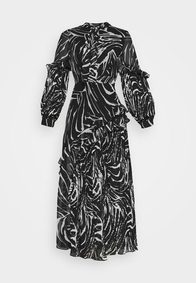 ZEBRA PLEATED - Maxi dress - mono