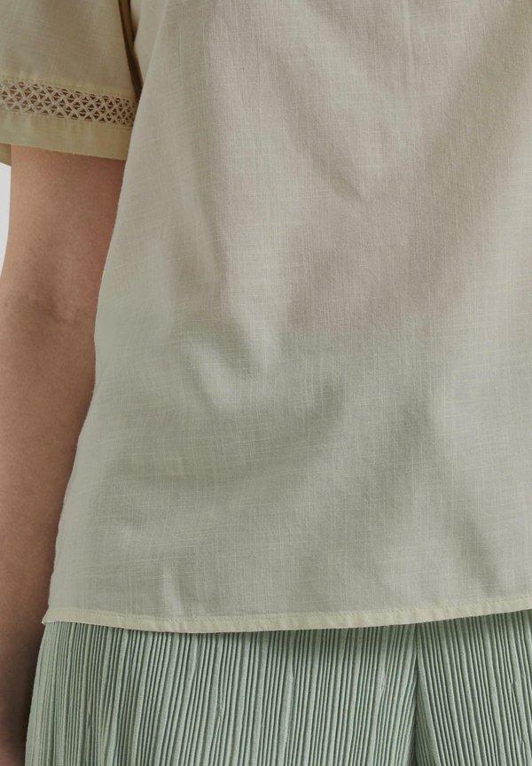 TOM TAILOR DENIM Bluzka - soft creme beige/beżowy LLLI