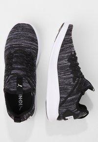 Puma - IGNITE FLASH EVOKNIT - Sports shoes - puma black/asphalt/puma white - 1