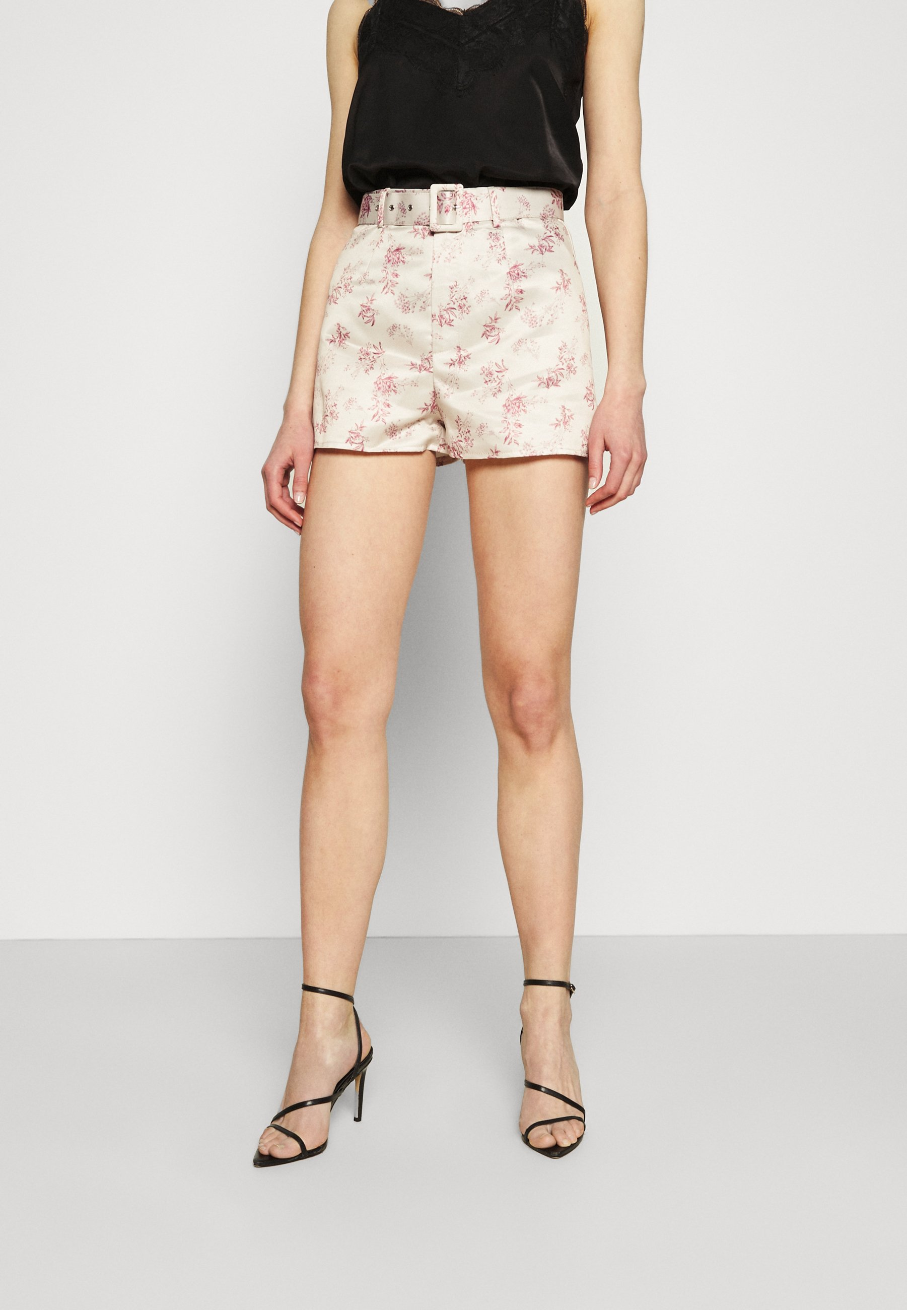 Women FLORAL BELTED MINI - Shorts