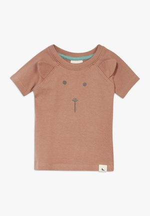 BEAR FACE BABY  - T-shirts print - brown