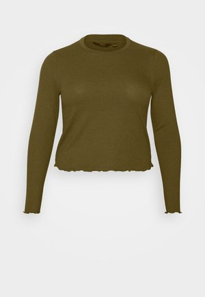 VMBREA LS CROPPED - Long sleeved top - fir green
