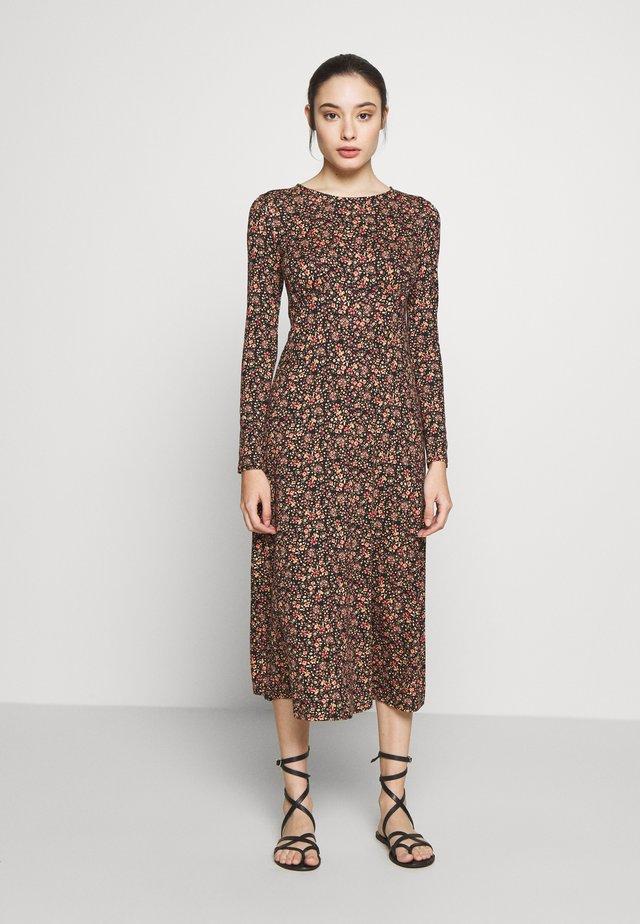 ALISH MIDI DRESS - Jersey dress - black