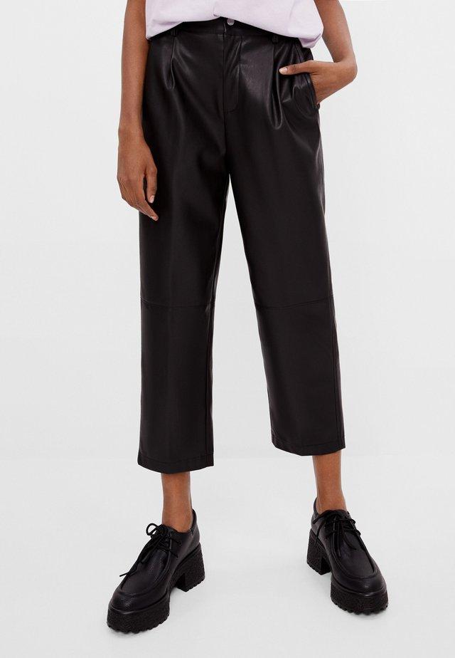 STRAIGHT-FIT - Pantalon classique - black