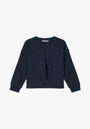 MIT STRASSSTEINEN VERZIERTES - Sweater - dark sapphire