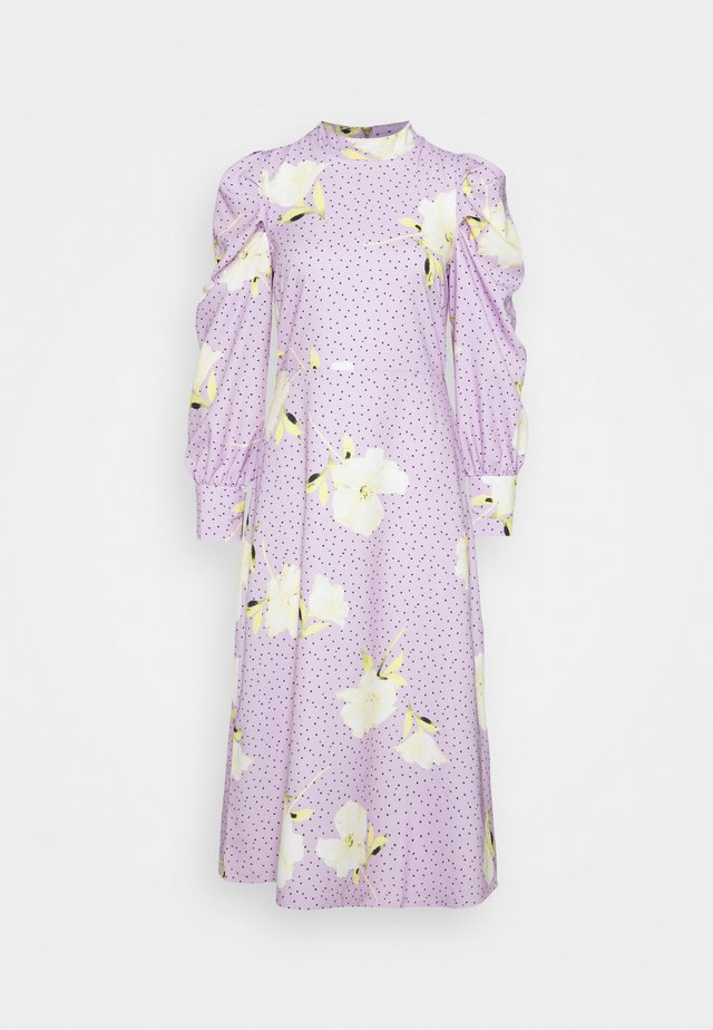 PUFF SLEEVE MIDI DRESS - Maxikjoler - purple