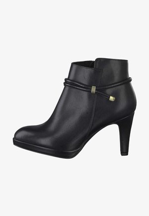 High heeled ankle boots - black antic 002