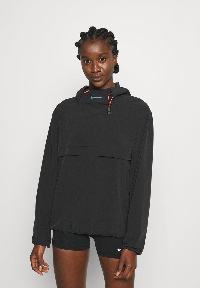 Nike Performance - RUN - Sports jacket - black/bright crimson