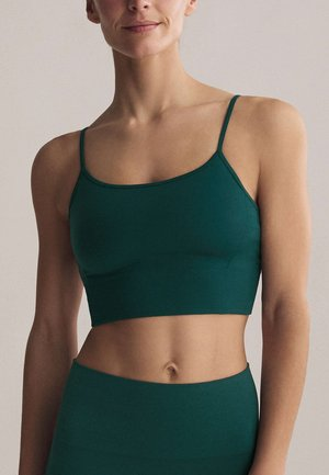Light support sports bra - evergreen