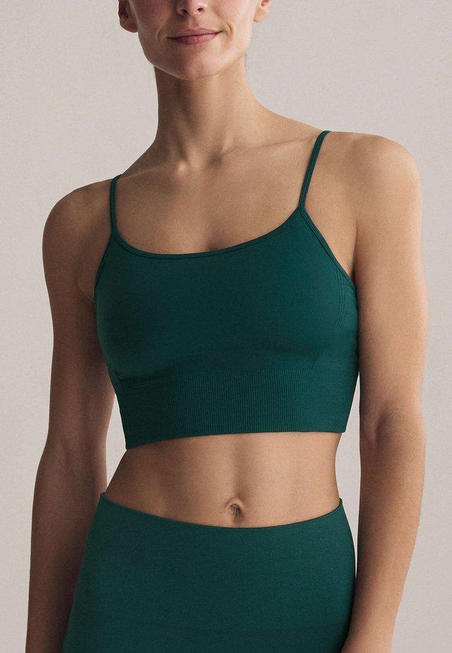 Light support sports bra - evergreen
