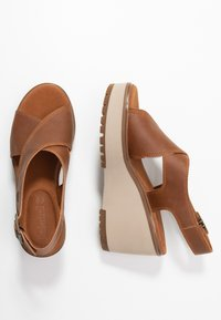 Timberland - KORALYN CROSS BAND - High heeled sandals - rust - 1