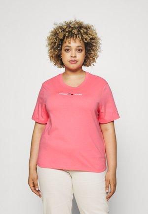 LINEAR LOGO TEE - Jednoduché triko - botanical pink