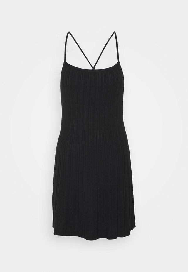CAMI SHORT DRESS - Freizeitkleid - black