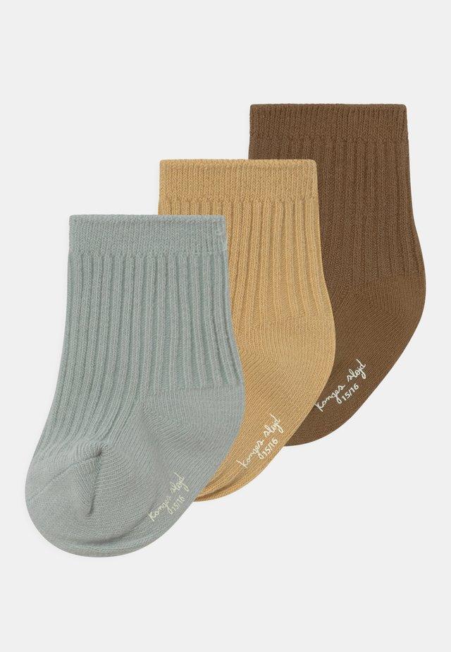 3 PACK UNISEX - Sokken - breen/mint/sahara sun