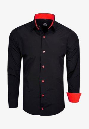 FREIZEIT-HEMD - Shirt - schwarz / rot